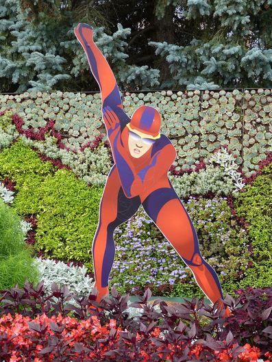 Eisschnelllauf-Statue