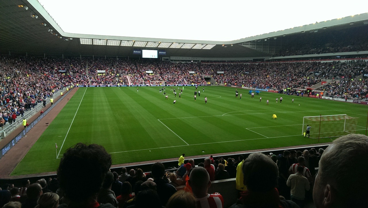 Fuballstadion-Zuschauer