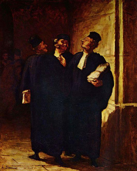 Honore-Daumier-Trois-Avocats-Drei-Anwaelte-wiki-commons